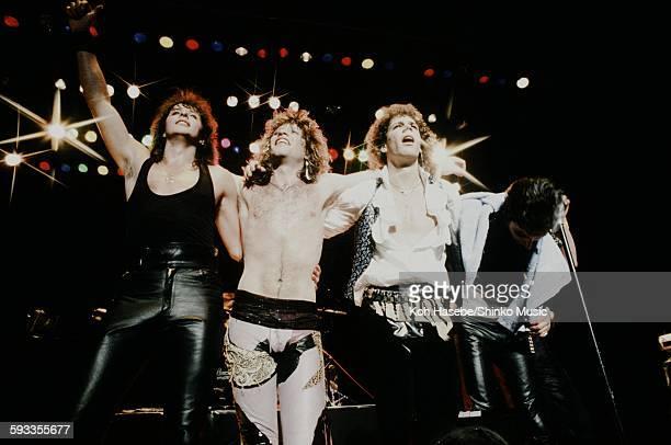 Bon Jovi Jon Bon Jovi David Bryan and Richie Sambora live at Nakano Sun Plaza Tokyo April 20 1985