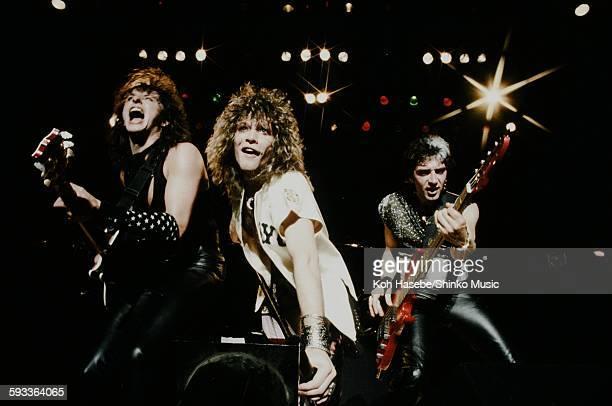 Bon Jovi Jon Bon Jovi Richie Sambora and Hugh McDonald live at Nakano Sun Plaza Tokyo April 20 1985