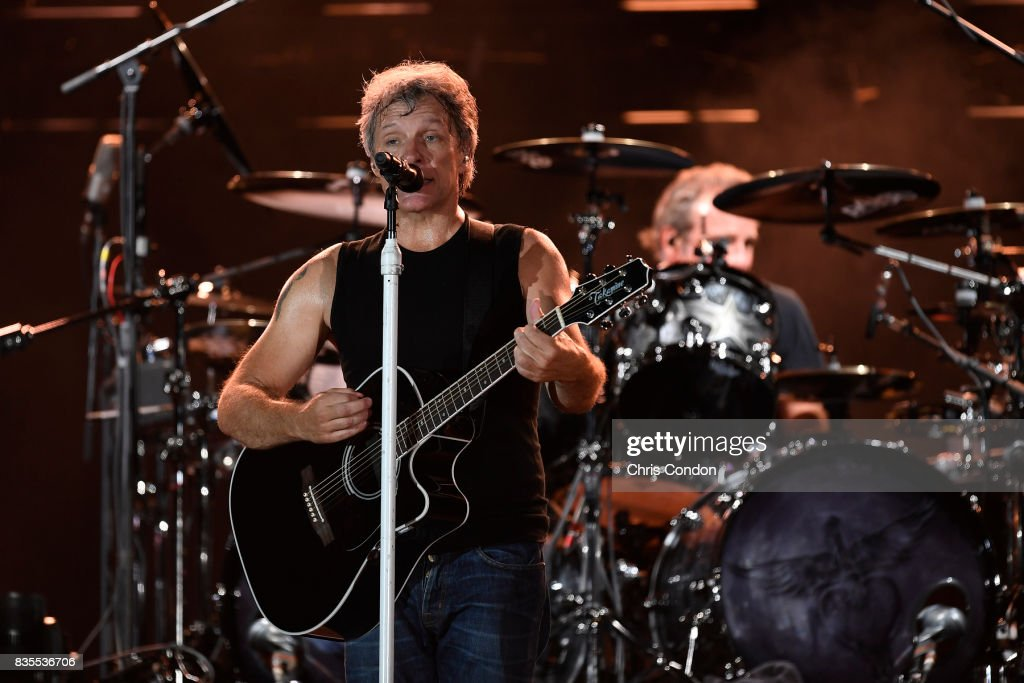 Bon Jovi performs after the first round of the PGA TOUR Champions DICK'S Sporting Goods Open at En-Joie Golf Course on August 18, 2017 in Endicott, New York.