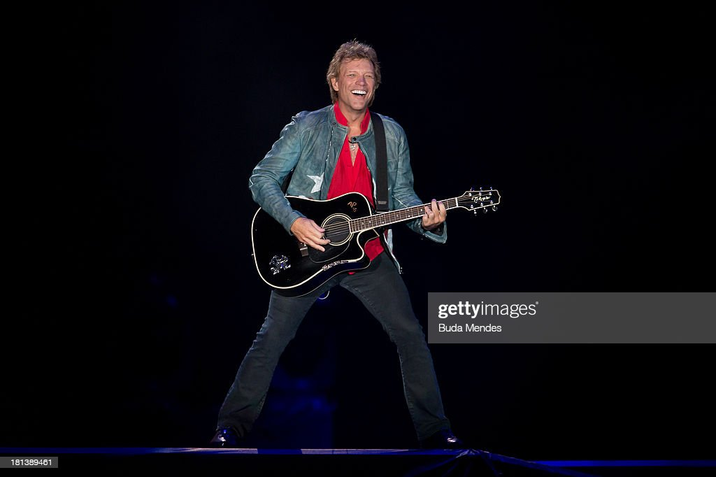 Bon Jovi performs on stage during a concert in the Rock in Rio Festival on September 20, 2013 in Rio de Janeiro, Brazil.