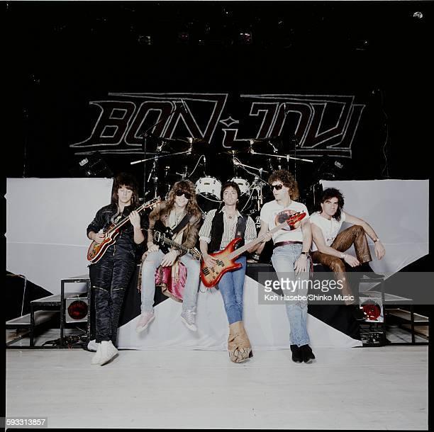 Bon Jovi photo session on stage at Nakano Sun Plaza