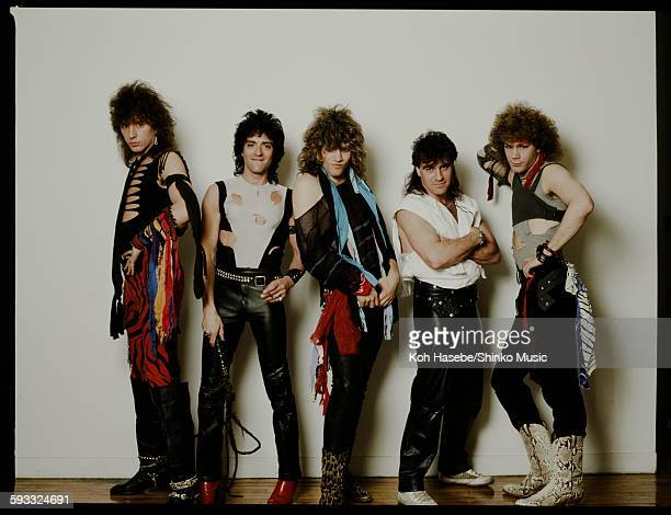 Bon Jovi studio photo session in Tokyo October 1984