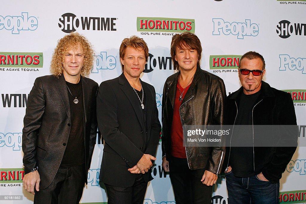 Bon Jovi's David Bryan, Jon Bon Jovi, Richie Sambora, and Tico Torres attend the 'Bon Jovi: When We Were Beautiful' New York premiere at the SVA Theater on October 21, 2009 in New York City.