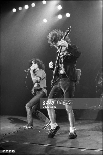 ODEON Photo of AC/DC Bon Scott and Angus Young of AC/DC at Hammersmith Odeon London 1981