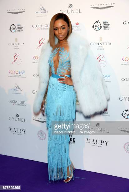 Bonang Matheba attending the Global Gift Gala held at The Corinthia Hotel in London PRESS ASSOCIATION Photo Picture date Saturday November 18 2017...