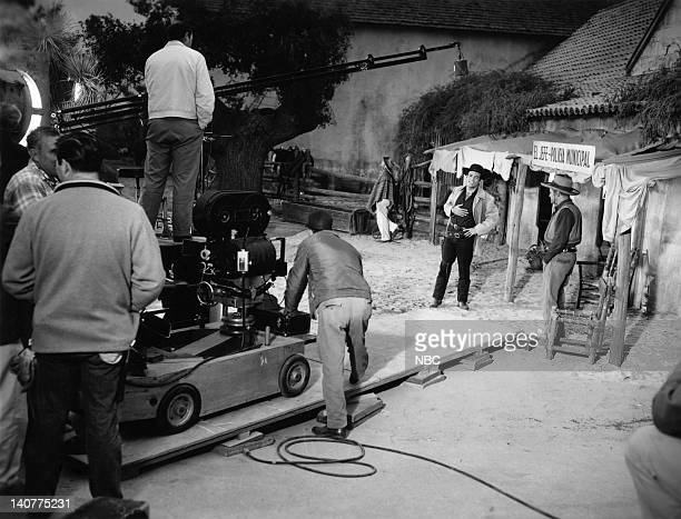 Bonanza 'The Fugitive' Episode 20 Pictured Crew Pernell Roberts as Adam Cartwright Frank Silvera as El Jefe Photo by NBC/NBCU Photo Bank