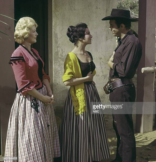 Bonanza 'The Fugitive' Episode 20 Pictured Veda Ann Borg as Beulah Ziva Rodann as Maria Reagan Pernell Roberts as Adam Cartwright Photo by NBC/NBCU...