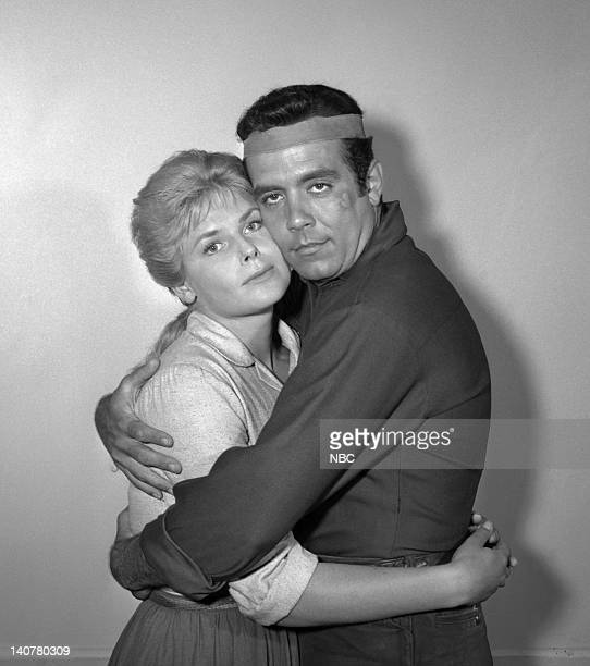 Bonanza 'The Savage' Episode 12 Pictured AnnaLisa as White Buffalo Woman/Ruth Halversen Pernell Roberts as Adam Cartwright Photo by NBC/NBCU Photo...