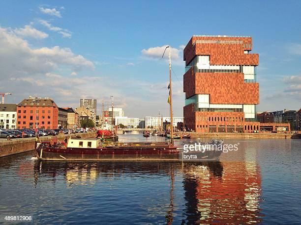 Bonaporte dock and MAS in Antwerp,Belgium