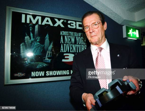 Bond hero Roger Moore who proved a fan of the big screen at the launch of Europe's most advanced cinema which opens to the public today in London's...