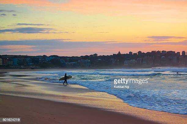 Bondi Beach - Pink Sunrise