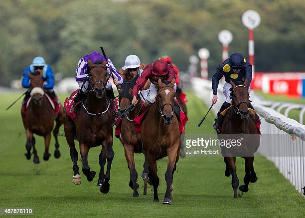Bondi Beach ridden by Colm O' Donoghue wins The Ladbrokes St Leger Stakes Race after Simple Verse ridden by Andrea Atzeni was disqualified following...