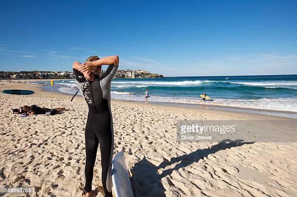 Bondi beach surfer.
