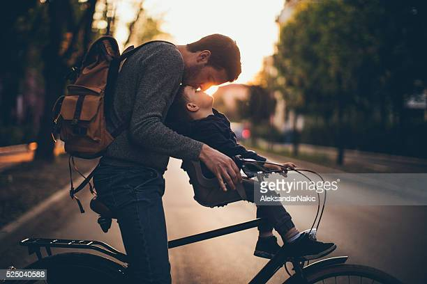 Bonding on a bicycle