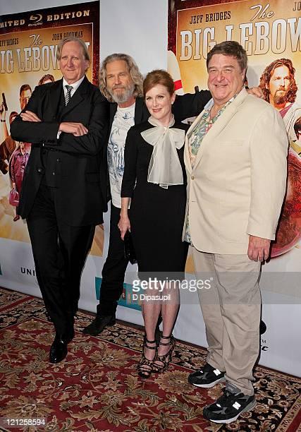 T Bone Burnett Jeff Bridges Julianne Moore and John Goodman attend 'The Big Lebowski' Bluray release at the Hammerstein Ballroom on August 16 2011 in...