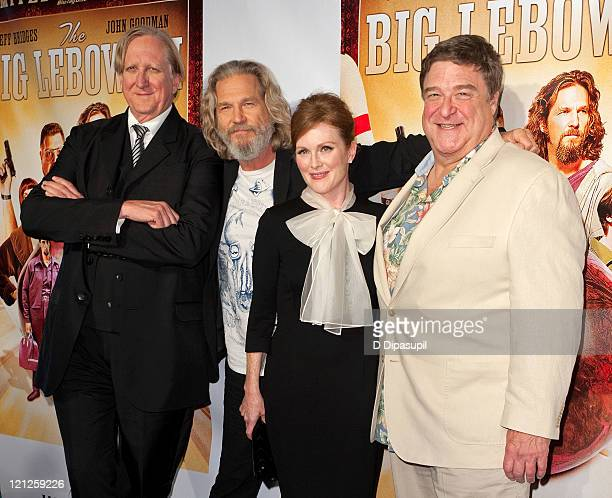 T Bone Burnett Jeff Bridges Julianne Moore and John Goodman attend 'The Big Lebowski' Bluray release at the Hammerstein Ballroom on August 16 2011 in...