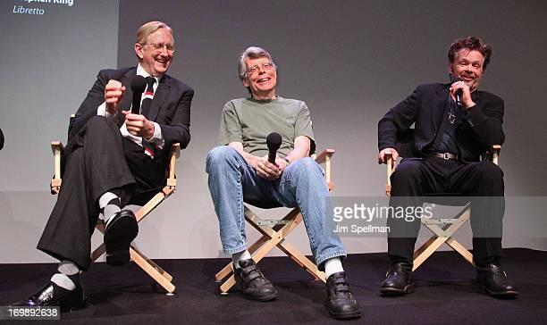 Bone Burnett Stephen King and John Mellencamp attend Meet the Creators at Apple Store Soho on June 3 2013 in New York City