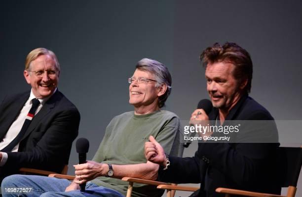 Bone Burnett Stephen King and John Mellencamp attends Meet the Creators at Apple Store Soho on June 3 2013 in New York City