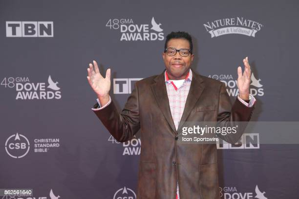 Bone Hampton arrives at the 48th Annual GMA Dove Awards red carpet at Allen Arena on October 17 2017 in Nashville TN