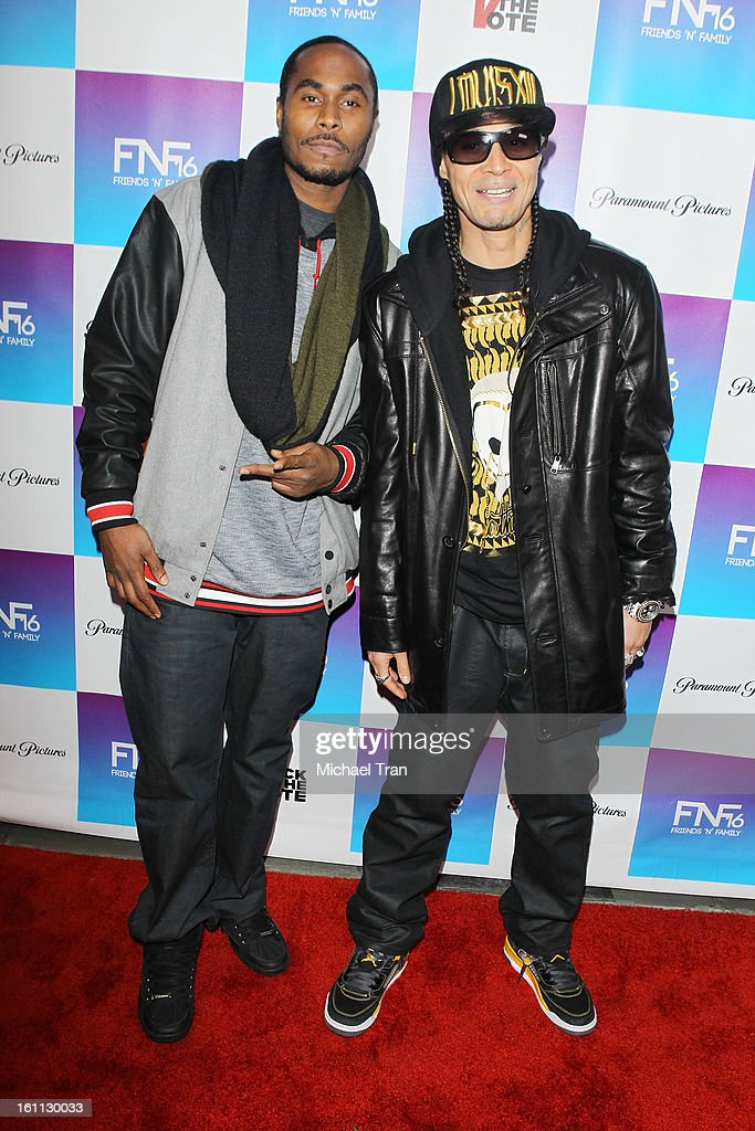 Bone Thugs n Harmony arrives at the 16th Annual 'Friends And Family' pre-GRAMMY event held at Paramount Studios on February 8, 2013 in Hollywood, California.