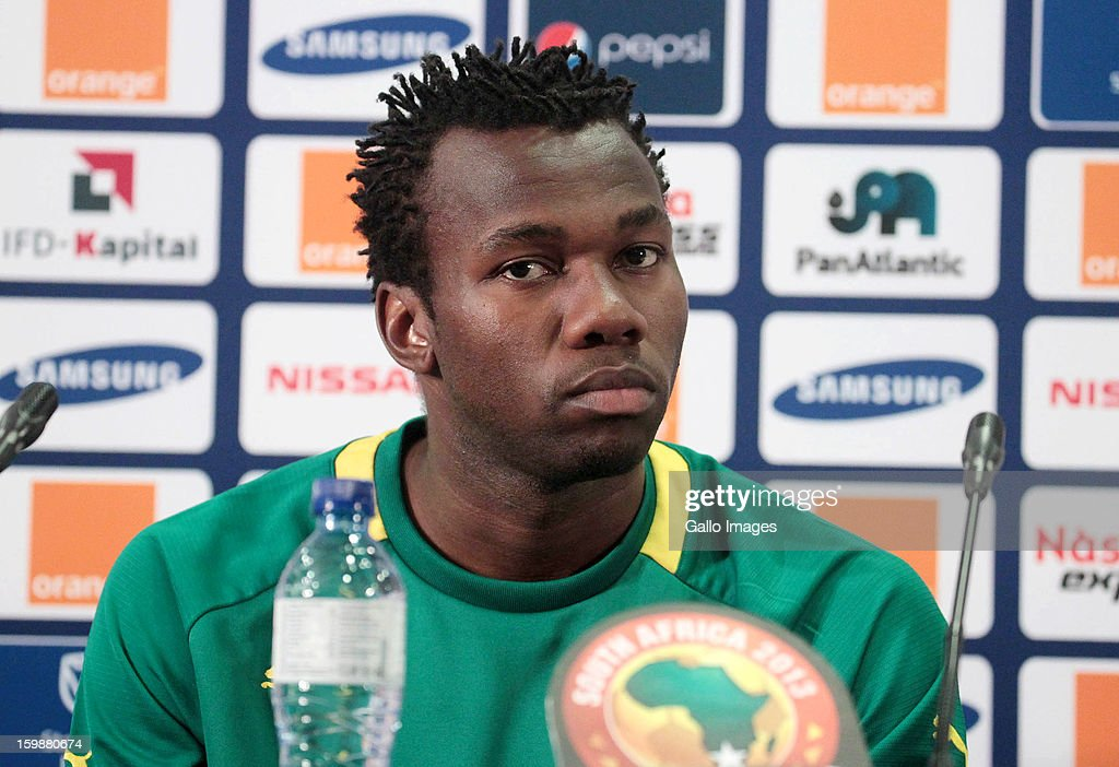 Bongani Khumalo during the South African national soccer team press conference at Moses Mabhida Stadium on January 22, 2013 in Durban, South Africa.