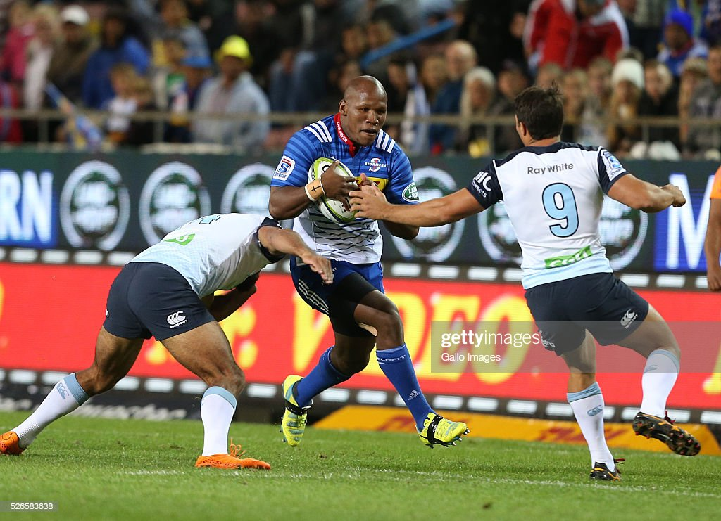 Bongi Mbonambi of the Stormers during the Super Rugby match between DHL Stormers and Waratahs at DHL Newlands Stadium on April 30, 2016 in Cape Town, South Africa.