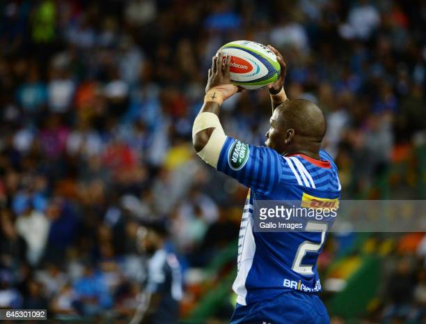 Bongi Mbonambi of the Stormers during the Super Rugby match between DHL Stormers and Vodacom Bulls at DHL Newlands on February 25 2017 in Cape Town...