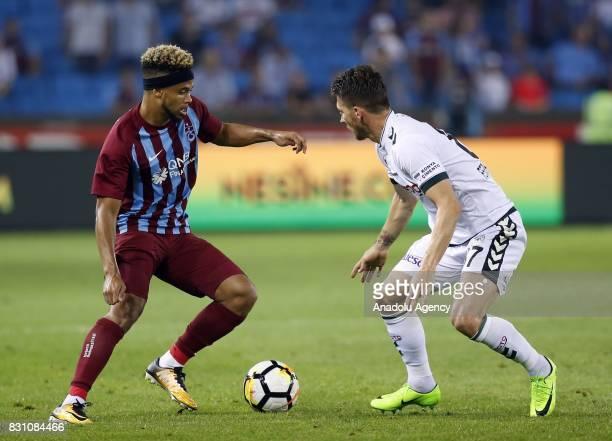 Bongonda of Trabzonspor is in action during a Turkish Spor Toto Super Lig soccer match between Trabzonspor and Atiker Konyaspor at Medical Park...