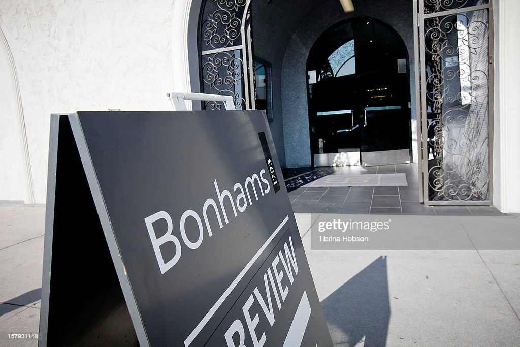 Bonhams auction media preview day at Bonhams & Butterfields on December 7, 2012 in Los Angeles, California.