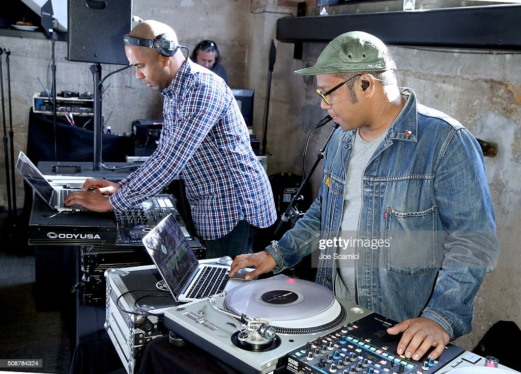 DJ Bonics performs during the Fanatics Super Bowl Party on February 6, 2016 in San Francisco, California.