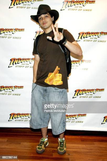 J Bonilla attends PreRelease Party for LucasArts New Videogame INDIANA JONES and The STAFF OF KINGS at Nintendo World Store on June 8 2009 in New...