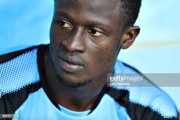 Bonke Innocent of Malmo FF during the Allsvenskan match between Malmo FF and Kalmar FF at Swedbank Stadion on August 11 2017 in Malmo Sweden
