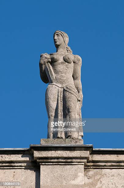 Bonn University main building, female statue located on the front side facing the city, North Rhine-Westphalia, Germany, Europe