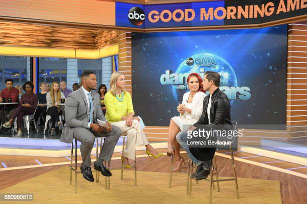 AMERICA Bonner Bolton and Sharna Burgess of 'Dancing with the Stars' are guests on 'Good Morning America' on Tuesday May 9 2017 airing on the ABC...