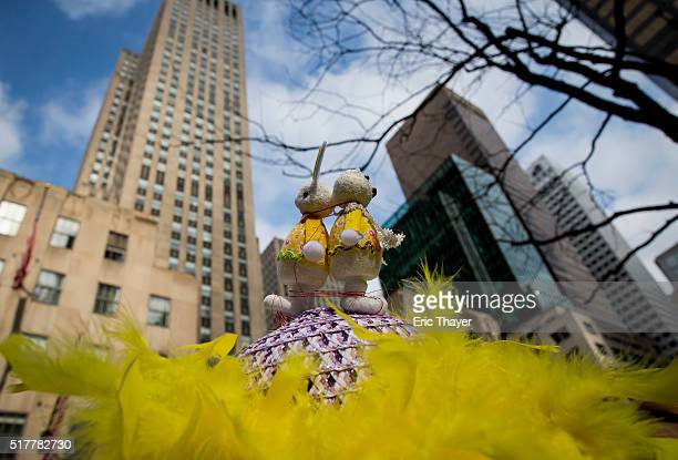 A bonnet is seen during the Easter Parade and Bonnet Festival along 5th Avenue March 27 2016 in New York City The parade is a New York tradition...