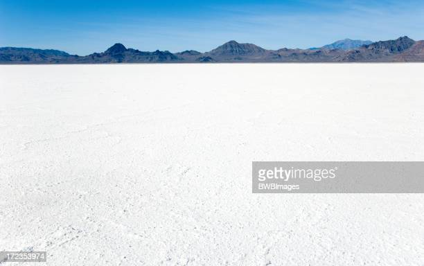 Bonneville Salt Flats with Mountains