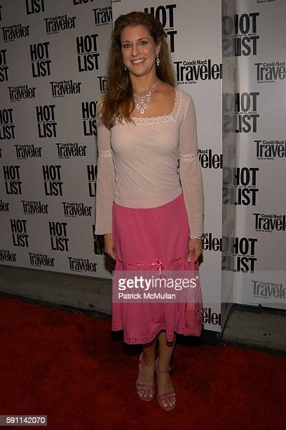 Bonnie Bernstein attends Conde Nast Traveler Hot List party at Megu on April 27 2005 in New York City