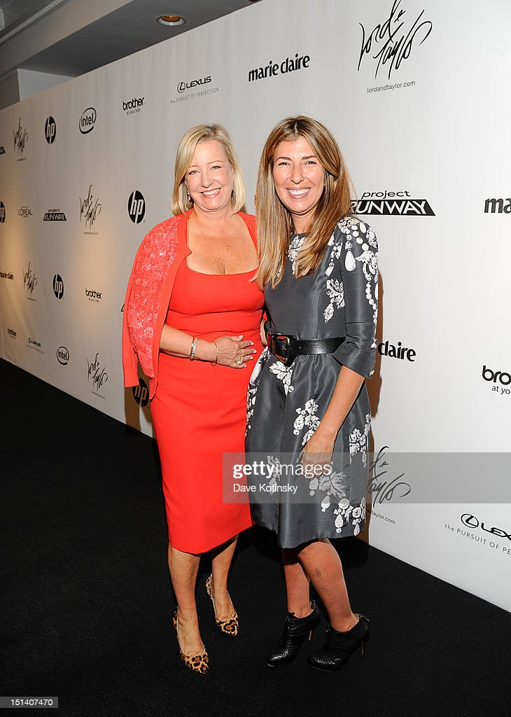 Bonnie Brooks, President of Lord & Taylor and <a gi-track='captionPersonalityLinkClicked' href=/galleries/search?phrase=Nina+Garcia&family=editorial&specificpeople=592222 ng-click='$event.stopPropagation()'>Nina Garcia</a> attend Lord & Taylor on September 5, 2012 in New York City.