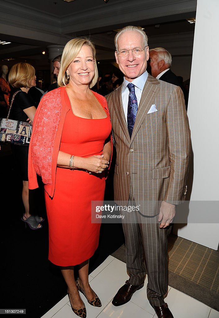 Bonnie Brooks, President of Lord & Taylor and <a gi-track='captionPersonalityLinkClicked' href=/galleries/search?phrase=Tim+Gunn&family=editorial&specificpeople=696109 ng-click='$event.stopPropagation()'>Tim Gunn</a> attend Lord & Taylor on September 5, 2012 in New York City.
