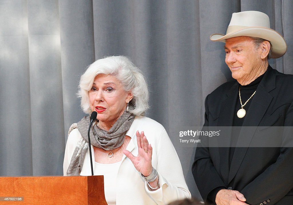 Bonnie Brown speaks at the 2015 Country Music Hall Of Fame Inductees Announcement at the Country Music Hall of Fame and Museum on March 25, 2015 in Nashville, Tennessee.