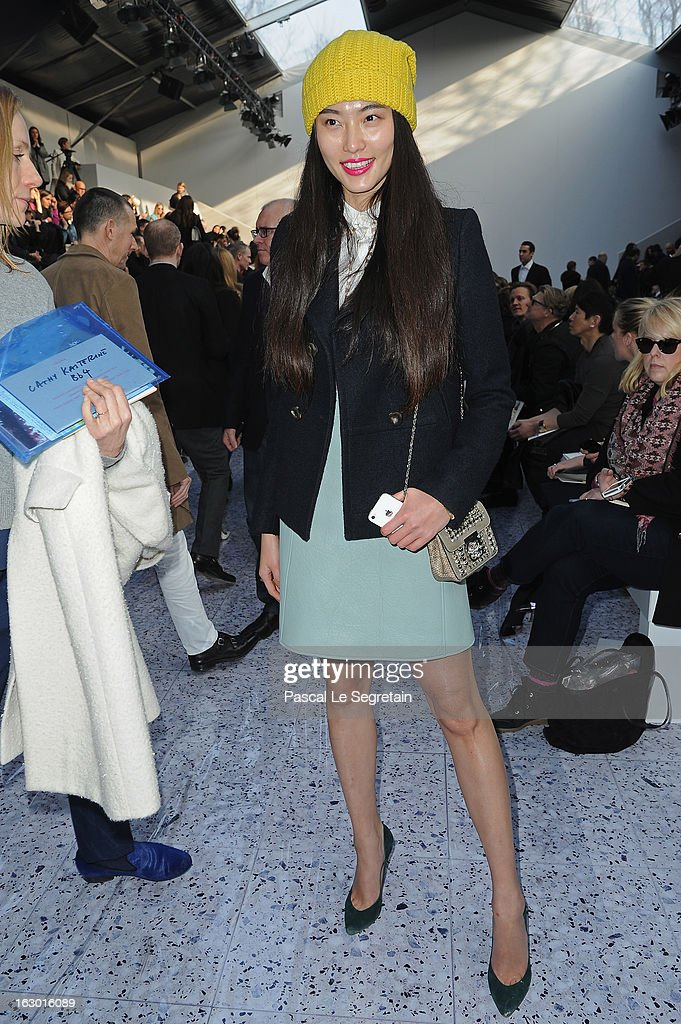 Bonnie Chen attends the Chloe Fall/Winter 2013 Ready-to-Wear show as part of Paris Fashion Week on March 3, 2013 in Paris, France.