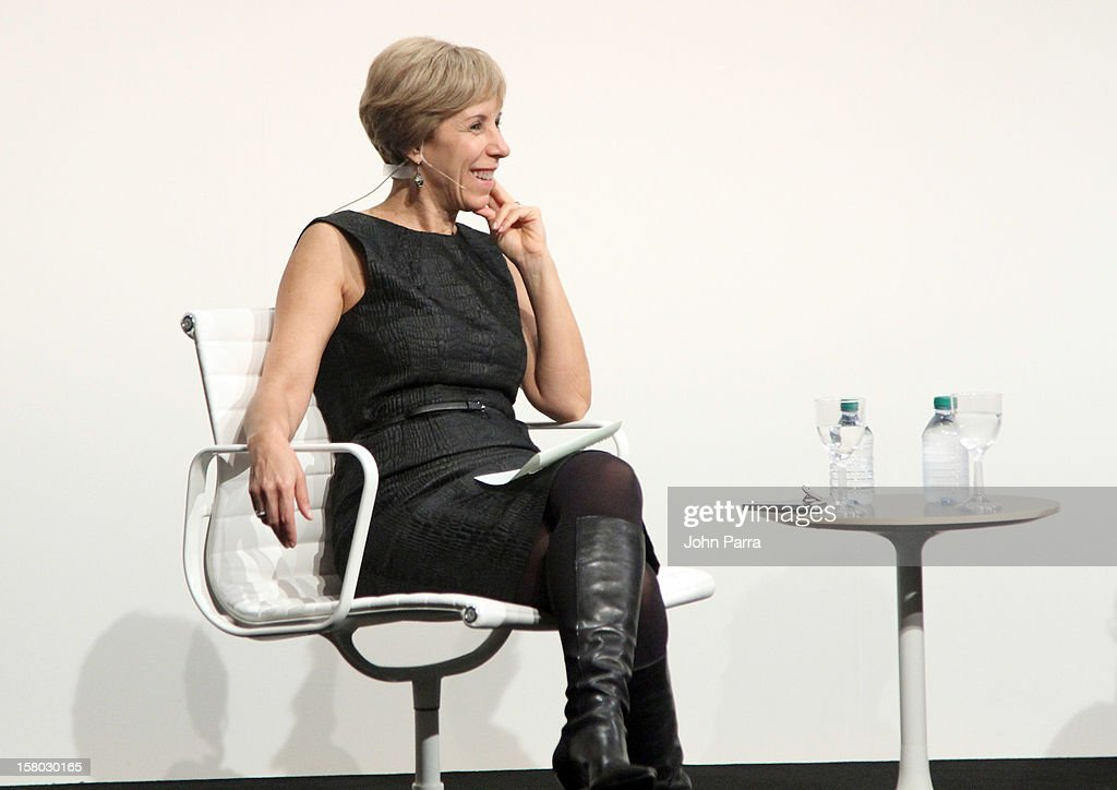 Bonnie Clearwater, Director and Chief Curator of Museum of Contemporary Art in North Miami, speaks onstage with artist Hernan Bas (not pictured) during Art Salon at Art Basel Miami Beach 2012 at the Miami Beach Convention Center on December 9, 2012 in Miami Beach, Florida.