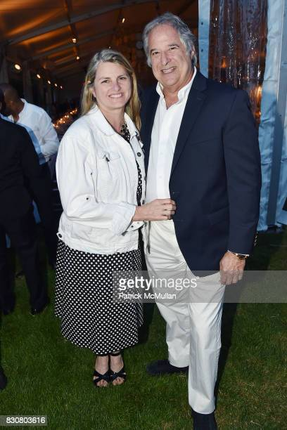 Bonnie Comley and Stewart F Lane attend the Guild Hall 2017 Summer Gala Celebrating AVEDON'S AMERICA at Guild Hall on August 11 2017 in East Hampton...