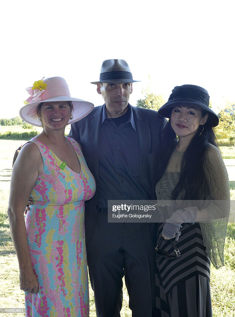 Bonnie Comley, Rob Sabel and Mako Yoshikawa attend the Naming Celebration For Stewart F. Lane & Bonnie Comley Event Lawn at the Parrish Art Museum on August 29, 2014 in Water Mill, New York.