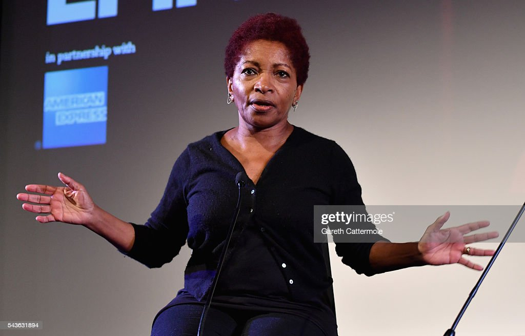Bonnie Greer speaks on stage as she introduces 'The Lost Man' as part of BFI Screen Epiphanies in partnership with American Express at the BFI Southbank on June 29, 2016 in London, England.