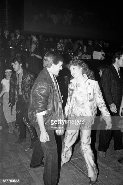 Bonnie Langford and guest at the opening of The London Hippodrome nightclub 17th November 1983