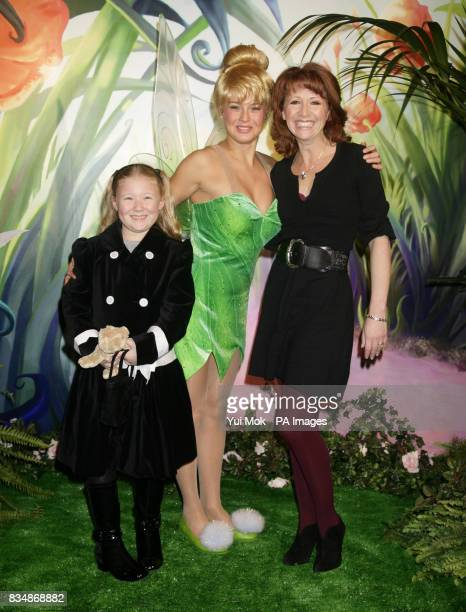 Bonnie Langford and her daughter Bibi aged 8 at the UK premiere of the Disney animated movie 'Tinker Bell' at Dartmouth House in central London...