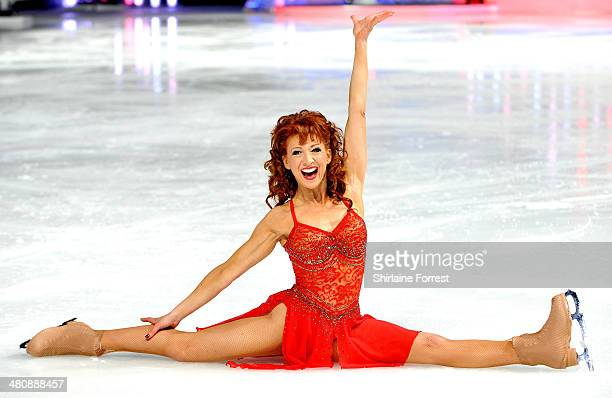 Bonnie Langford attends a photocall to launch the final tour of Torvill Dean's Dancing On Ice at Phones 4 U Arena on March 27 2014 in Manchester...