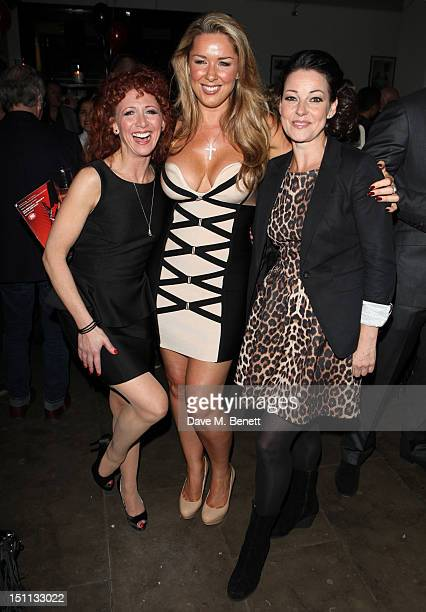 Bonnie Langford Calire Sweeney and Ruthie Henshaw attend 'Chicago's' final performance after party at the Garrick Theatre in London's West End on...