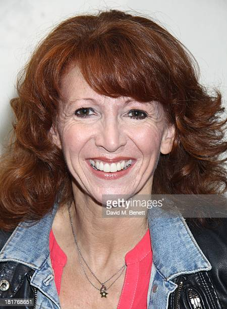 Bonnie Langford poses as actor Warrick Davis joins the West End Cast of 'Spamalot' during the 'Spamalot' Press Night at the Playhouse Theatre on...